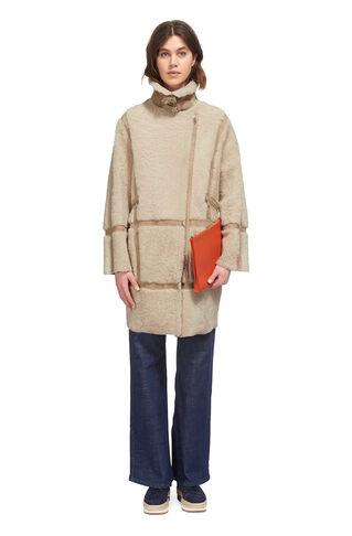 Effie Sheepskin Coat, in Cream on Whistles