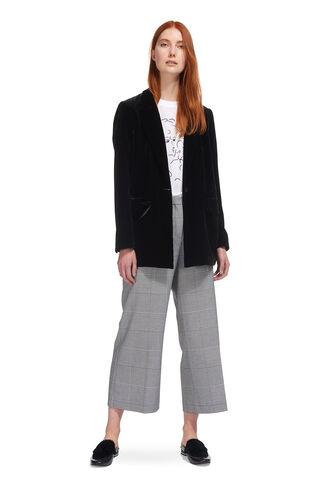 Velvet Relaxed Jacket, in Black on Whistles