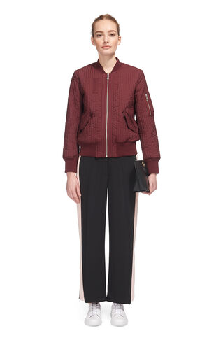 Quilted Bomber Jacket, in Burgundy on Whistles