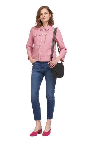 Pink Ring Puller Denim Jacket, in Pink on Whistles
