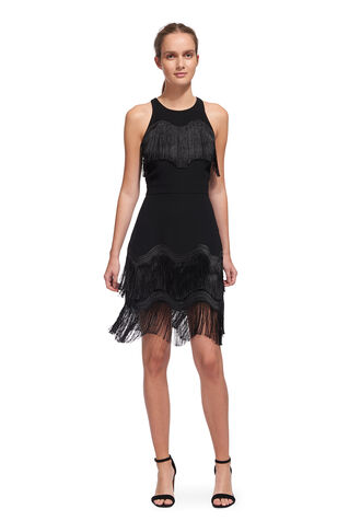Jasmine Wave Tassle Dress, in Black on Whistles