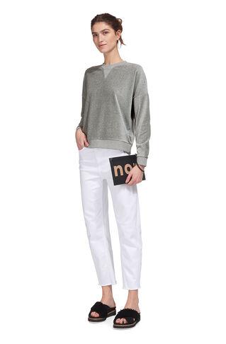 Velour Sweatshirt, in Grey Marl on Whistles