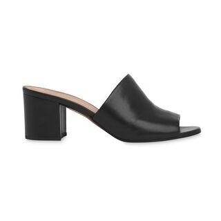 Amberley Mid Block Heel Mule, in Black on Whistles