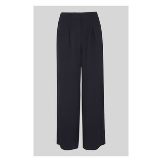 Wide Leg Pocket Trouser, in Navy on Whistles