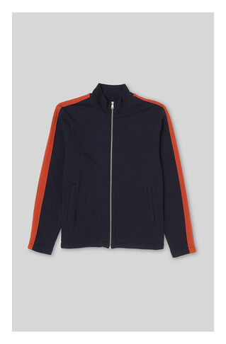 Stripe Sleeve Track Top, in Navy on Whistles