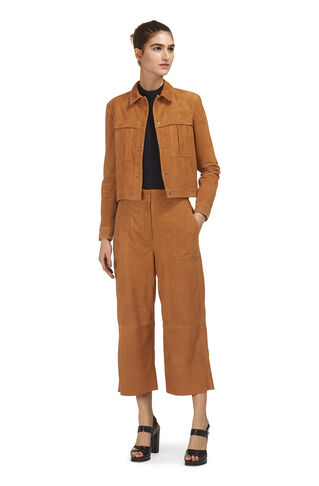 Colbert Suede Leather Jacket, in Tan on Whistles