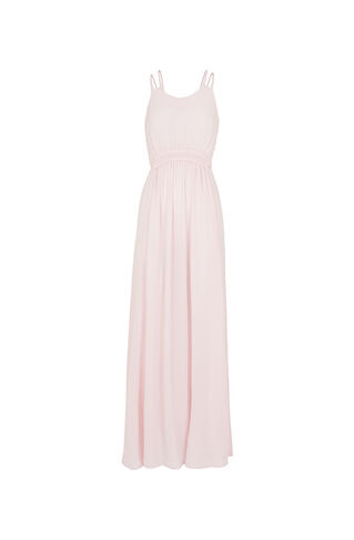 Buena Silk Maxi Dress, in Pale Pink on Whistles
