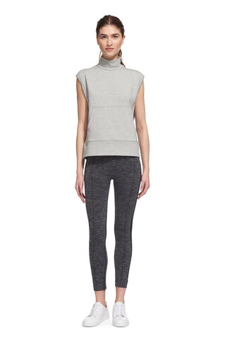 Sleeveless Luxe Top, in Grey Marl on Whistles