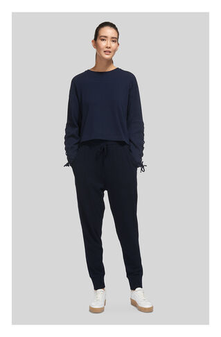 Relaxed Slub Jogger, in Navy on Whistles