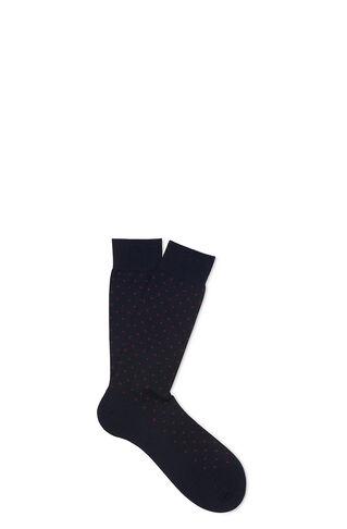 Polka Dot Merino Socks, in Blue/Multi on Whistles