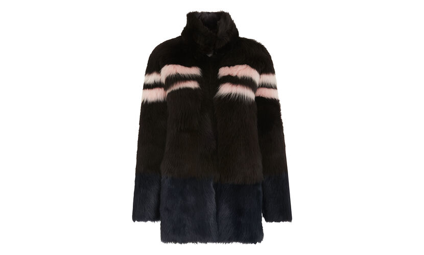 Binx Sheepskin Coat, in Brown on Whistles