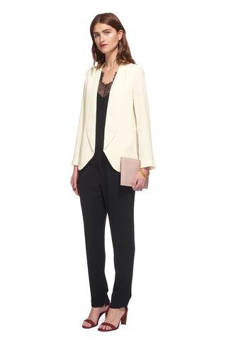 Helena Crepe Jacket, in Ivory on Whistles