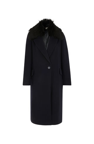 Bonnie Single Button Coat, in Navy on Whistles