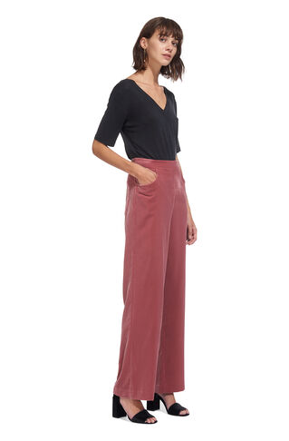 Corinna Velvet Trouser, in Pink on Whistles