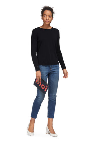 Twist Back Crew Neck Knit, in Navy on Whistles
