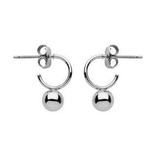 Mini Hoop And Sphere Earring, in Silver on Whistles