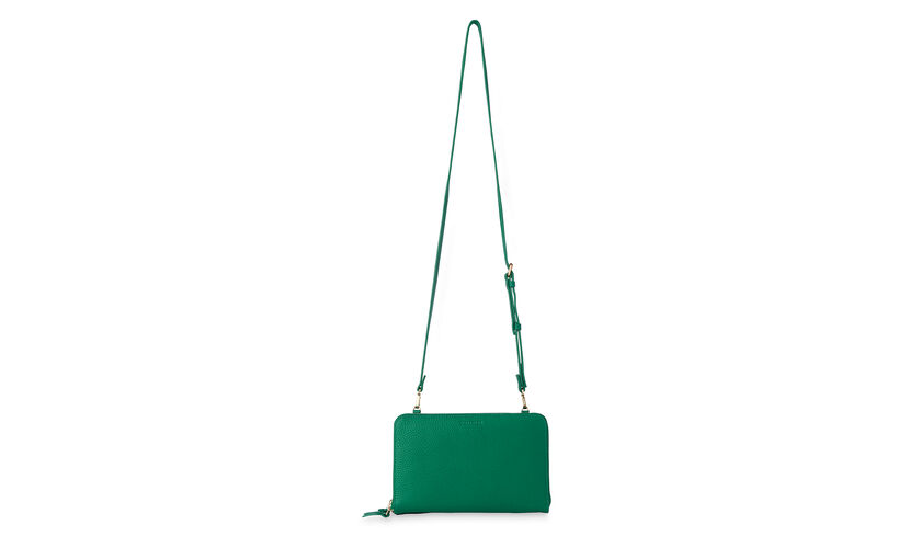 Union Double Zip Crossbody Bag, in Green on Whistles
