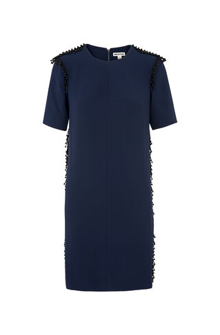 Bella Beaded Dress, in Navy on Whistles