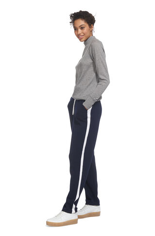 Stripe Cashmere Mix Jogger, in Navy on Whistles