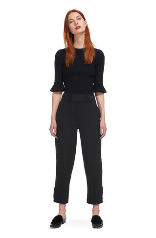 Premium Tapered Leg Trousers, in Black on Whistles