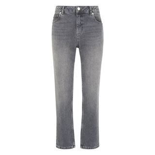 Grey Straight Leg Jean, in Grey on Whistles