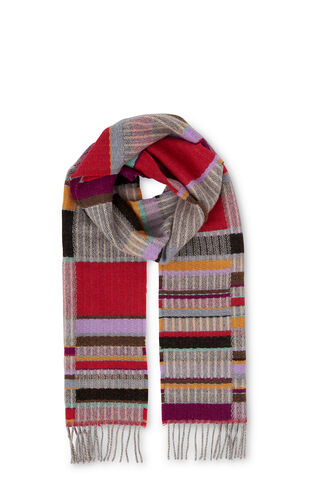 Wallace And Sewell Klee Scarf, in Red/Multi on Whistles