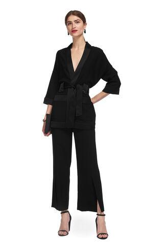 Kimono Sleeve Jacket, in Black on Whistles