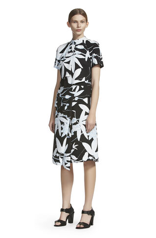 Botanical Floral Folded Skirt, in Black/Multi on Whistles