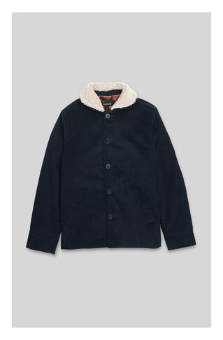 Corduroy Deck Jacket, in Navy on Whistles