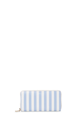 Saffiano Stripe Wallet, in Blue/White on Whistles