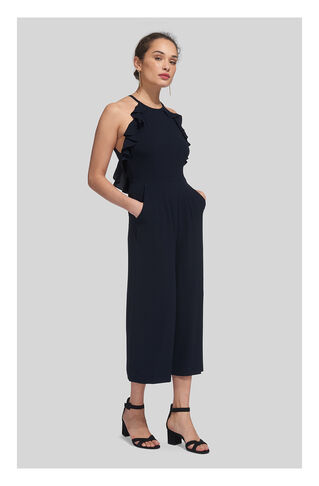 Sonia Frill Jumpsuit, in Navy on Whistles