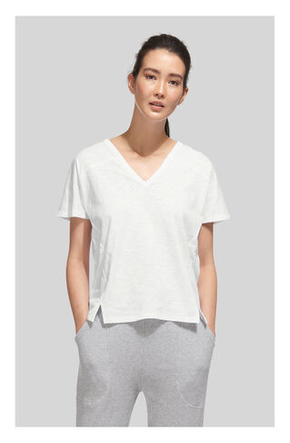 Lace Back Relaxed Tshirt, in White on Whistles