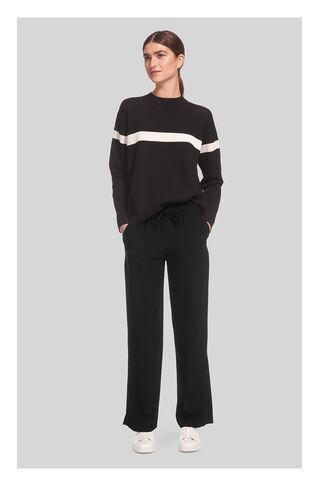Wide Leg Helena Trouser, in Black on Whistles