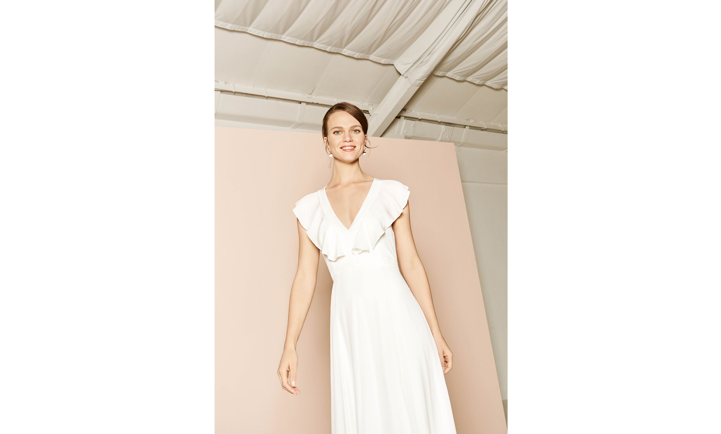 Eve silk wedding dress white whistles junglespirit Choice Image