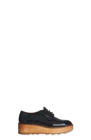 Ida Patent Lace Up Shoe, in Navy on Whistles