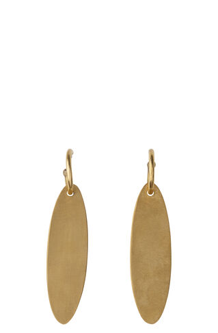 Soko Leaf Drop Hoops, in Gold on Whistles