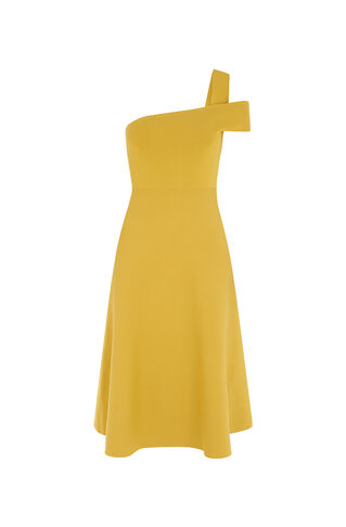Lyra One Shoulder Dress, in Yellow on Whistles