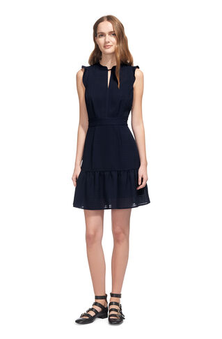 Raechelle Frill Sleeve Dress, in Navy on Whistles