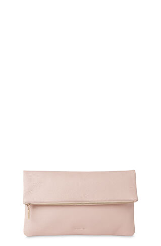 Foldover Zip Clutch, in Pale Pink on Whistles