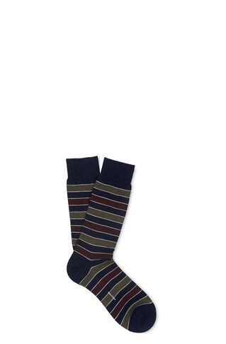Striped Merino Socks, in Navy on Whistles