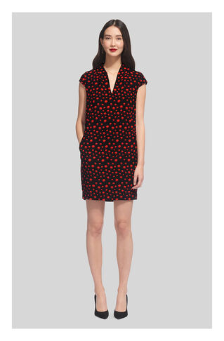 Paige Eclipse Print Dress, in Red/Multi on Whistles