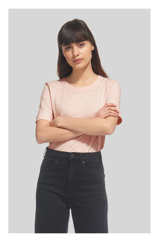 Rosa Double Trim Tshirt, in Pale Pink on Whistles