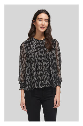 Belinda Geo Print Blouse, in Black/Multi on Whistles