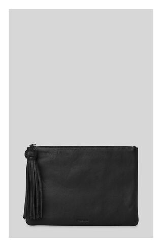 Supersoft Large Tassel Pouch, in Black on Whistles