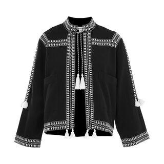 Trim Detail Jacket, in Black on Whistles