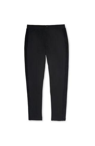Velvet Stripe Sweatpants, in Black on Whistles