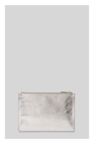 Metallic Small Clutch, in Silver on Whistles