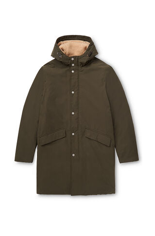 Clean Wadded Parka, in Khaki on Whistles