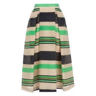 Miriam Stripe Midi Skirt, in Multicolour on Whistles