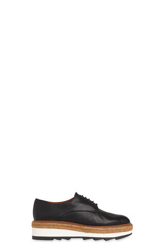 Rex Espadrille Wedge Shoe, in Black on Whistles